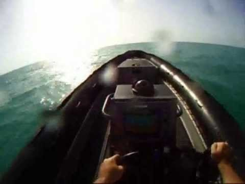 Rhib Demo - gopro head cam - rigid hull inflatable boat