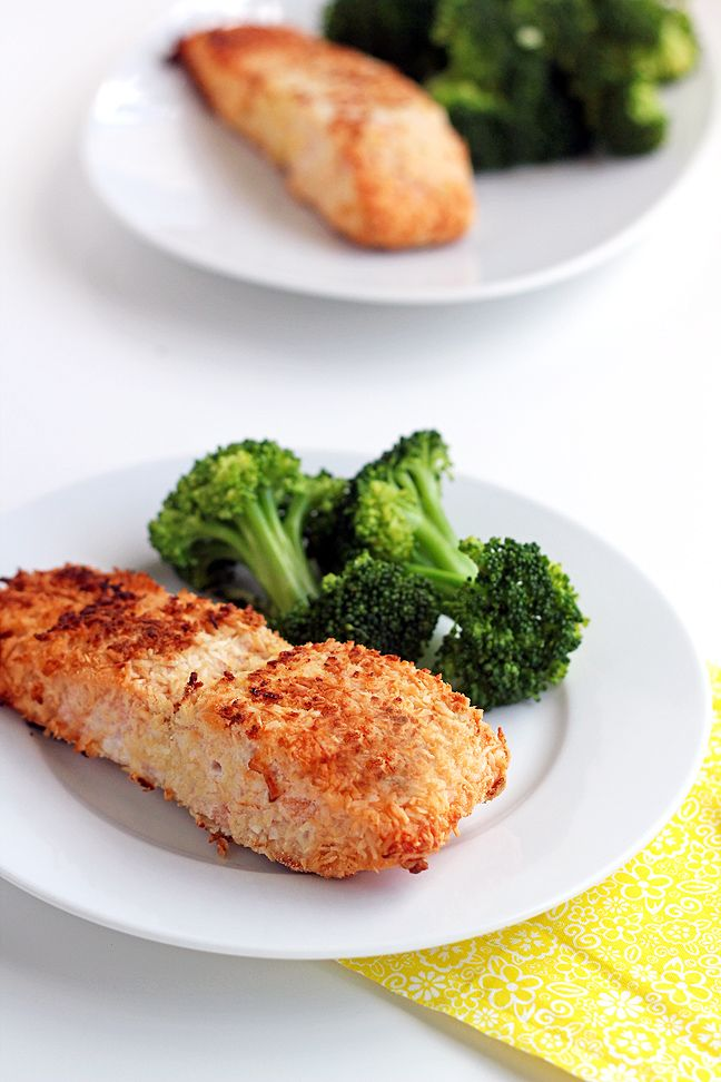 Coconut Crusted Salmon (paleo, gluten-free, grain-free) - only 5 ingredients!