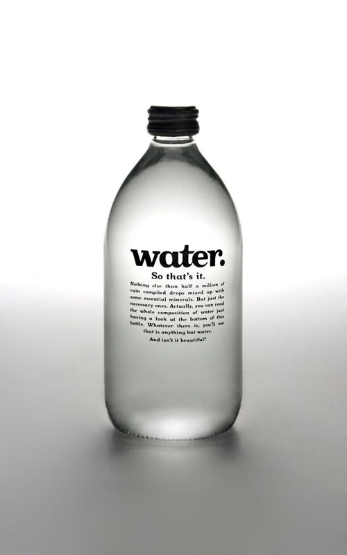 Water. by Alba Esparza, via Behance