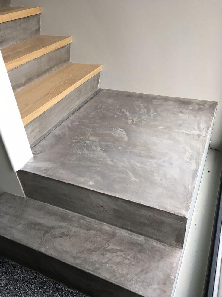 Een trap bekleden met beton stuc. Moooi