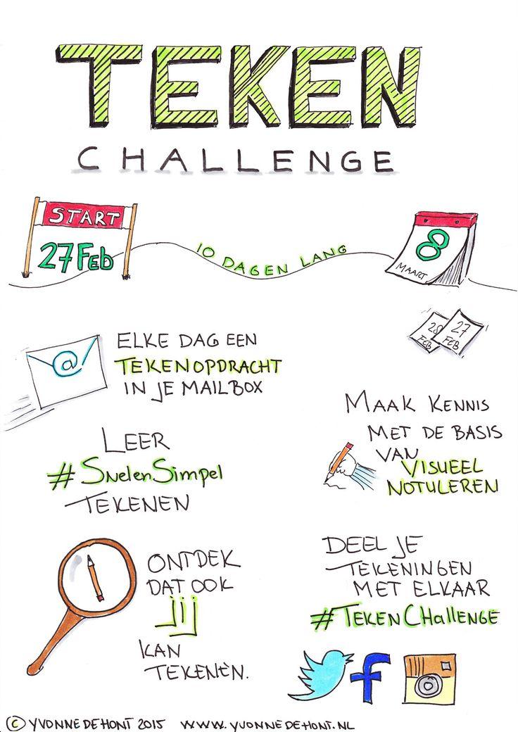 Gratis 10 dagen Teken Challenge: visueel notuleren en #SnelenSimpel tekenen - Start 27 februari 2015. #TekenChallenge