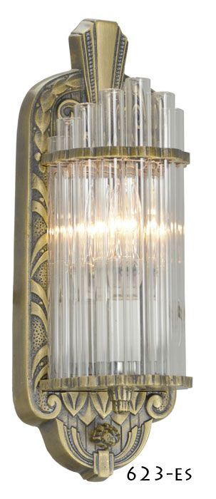 Antique Replica Wall Sconces : 17 Best images about Art Deco Lighting on Pinterest Ceiling lights, Great depression and Hardware