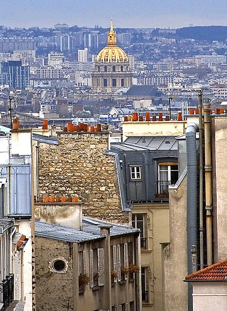 Les Invalides as seen from Montmartre, Paris, France