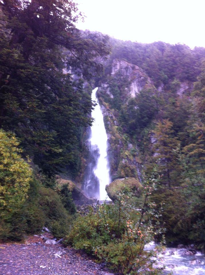 waterfall, Cascada la Nutria, Patagonia chilena