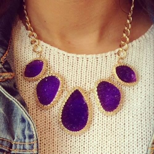 Purple n Gold I usually don't do necklaces, but I might rock this for the #fall #winter