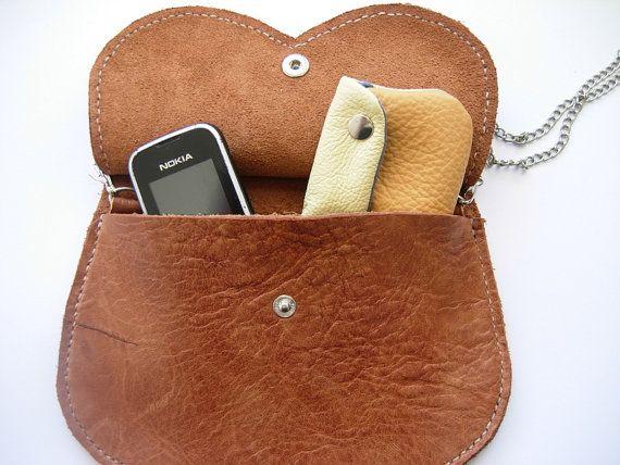 leichte Bräune Katze Tasche braun Leder Armband von RachelaPiras