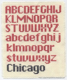 Contemporary cross stitch font