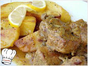 ΧΟΙΡΙΝΟ ΨΗΤΟ ΚΑΤΣΑΡΟΛΑΣ ΛΕΜΟΝΟΜΟΥΣΤΑΡΔΑΤΟ ΜΕ ΠΑΤΑΤΕΣ ΜΠΛΟΥΜ!!! - Νόστιμες Συνταγές της Γωγώς