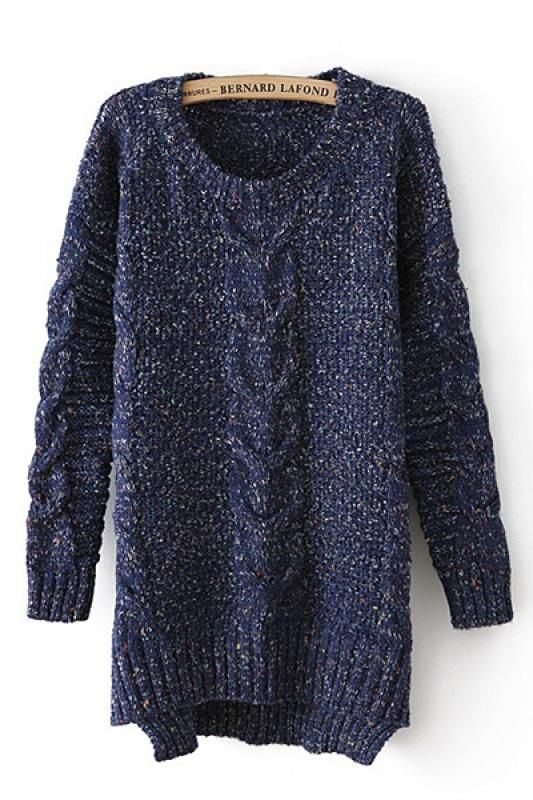 Oversized Navy Tweed..love, love this knit