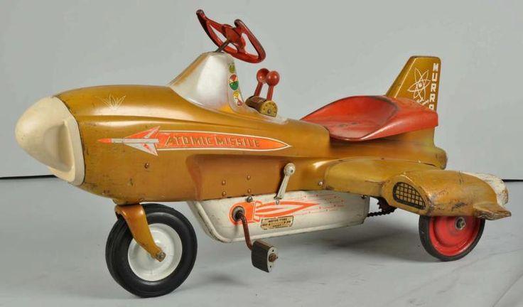 1950s atomic missile pedal car