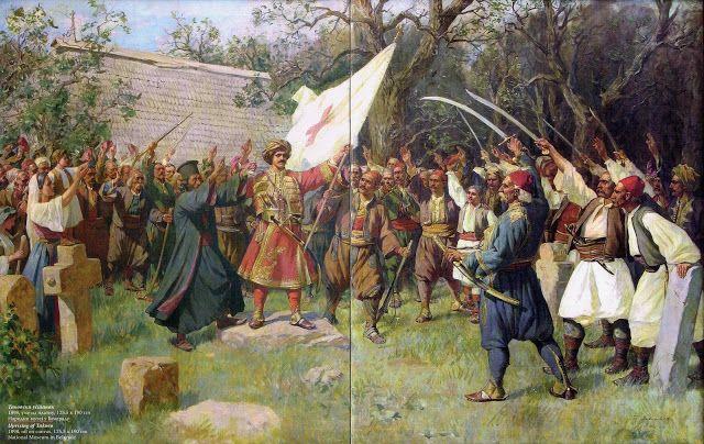 Uprising of Takovo ( The Second Serbian Uprising against the Ottoman Empire in Takovo, 1815), 1898