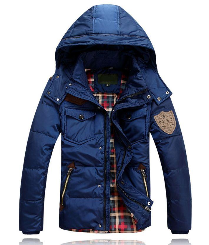 2013 Men Duck Down Winter Coat  Detachable Waterproof  Winter Coat Men 90% Down Jacket Coat Plus size Free Shipping MWY073 $57.99