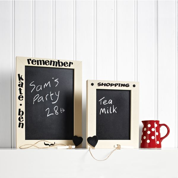 Upcycle an old frame and make something pretty for your home with this chalkboard frame. Perfect for leaving yourself reminders.