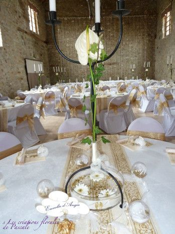 Chandelier centre de table mariage