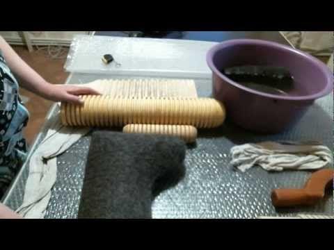 Валяем валенки часть 2 (голенище, головка) - YouTube