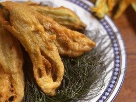 Fiori Di Zucchine: Fried Zucchini Flowers from CookingChannelTV.com
