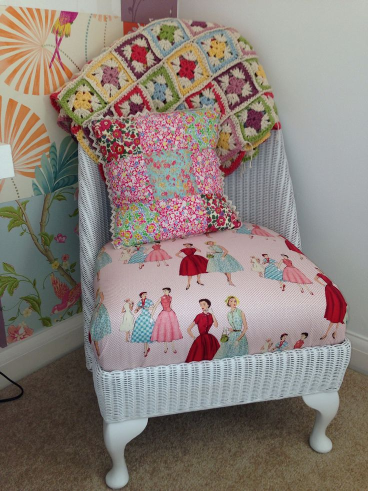 Lloyd Loom chair - up-cycled