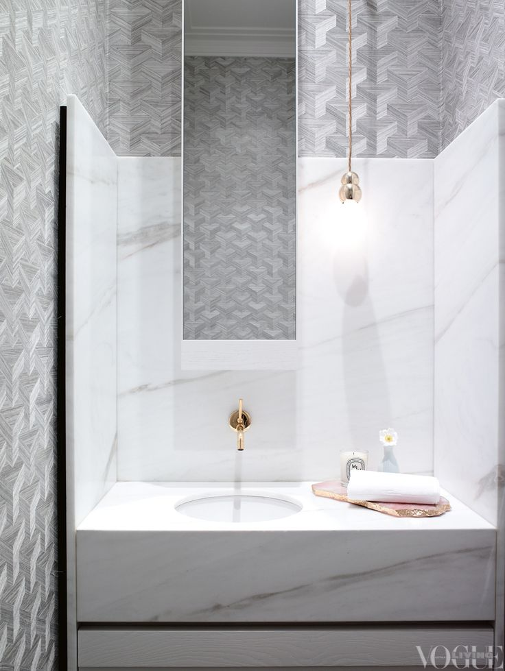 bathroom perfection via Vogue Living#modernglamour
