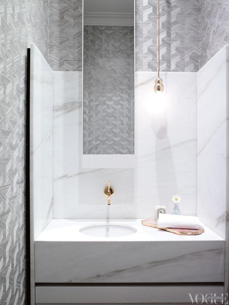 bathroom perfection via Vogue Living #modernglamour
