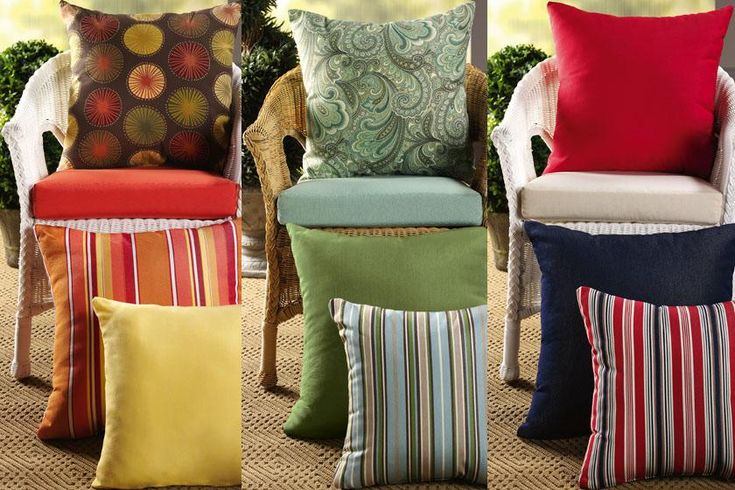 "18""W Outdoor Cushion for Chair - Outdoor Cushions - Accessories - Outdoor 
