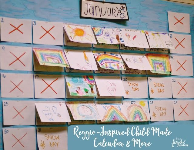 I had the opportunity to tour a Reggio Emilia inspired school in my area and see the classrooms.  One of the things that absolutely captured my heart was the child generated print materials. It was so inspiring!  I came back resolved to toss my commercial made materials and have the children make them.  Click to see what I have done so far! Reggio - Inspired Child Made  Calendar & More ~ Fairy Dust Teaching