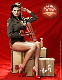 Jeremiah Weed Print Campaign    Beautiful pin-up photography with that nostalgic, 1940's experience