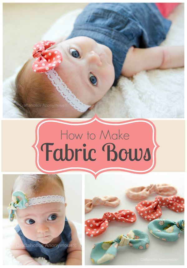 DIY fabric hair bows tutorial :: love making these for handmade baby shower gifts!