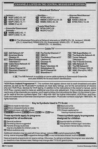https://flic.kr/p/4ceko8 | Central Mississippi Edition (February 13, 1999) | From my TV Guide collection.