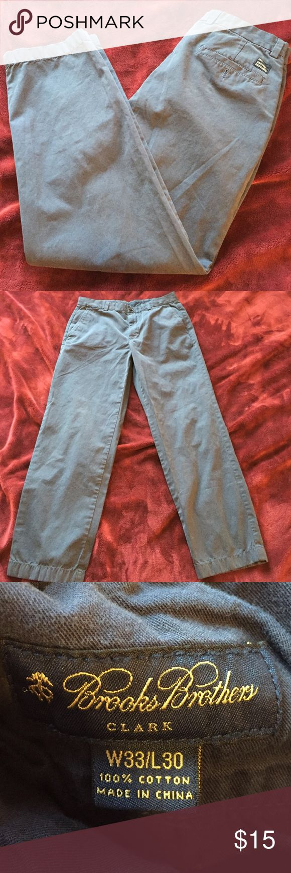 Brooks brothers Clark cut navy blue chinos 30 inch inseam, navy blue in good condition Brooks Brothers Pants Chinos & Khakis