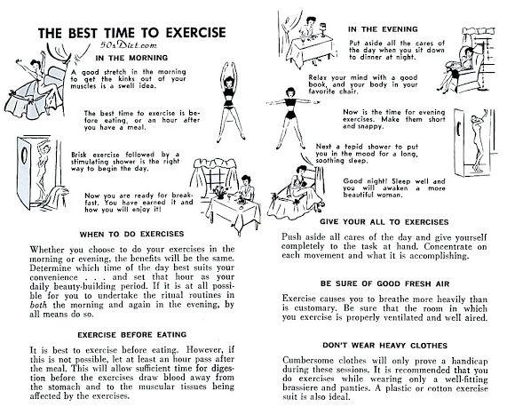Image result for 1950's Workout tip