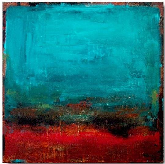 """Renaissance"" - acrylic, mixed media, canvas, in Ocean Landscapes"
