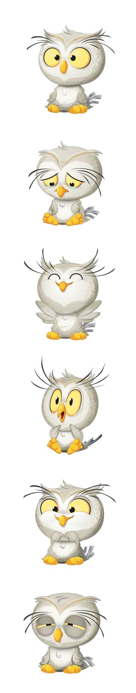 Baby owl stickers by Agustin Grassi