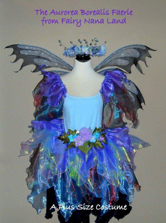 FALL SALE - Adult Plus Size Fairy Costume -The AURORA BOREALIS FAERIE - Plus Size XL - XXL