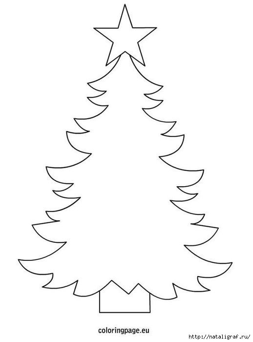 Christmas Tree Template To Print Use As A Thread Sketch Or Hand Embroidery