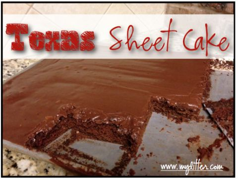 Texas Sheet Cake Recipe - Chocolate Buttermilk Cake - MyLitter - One Deal At A Time