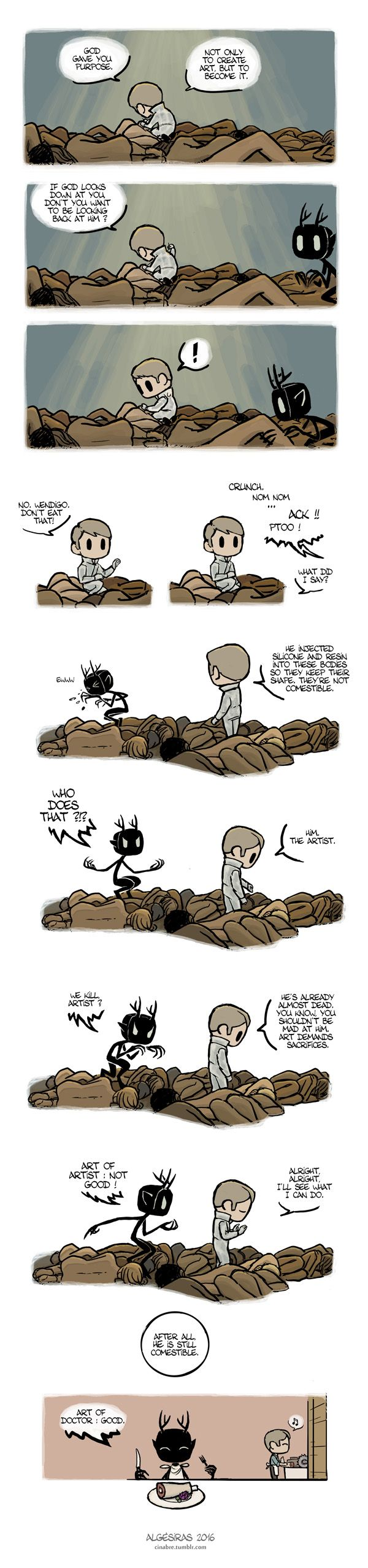 Pet Wendigo strip 20 : A matter of taste by Algesiras.deviantart.com on @DeviantArt
