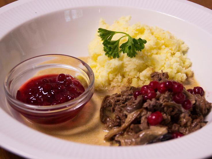 Renskavsgryta med Karl-Johan och rosépeppar | Recept från Köket.se