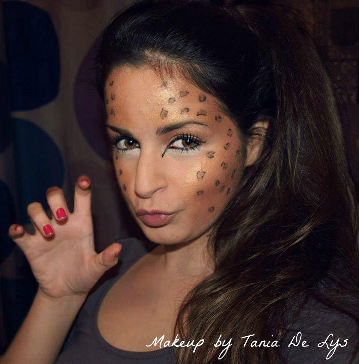 Leopar makeup