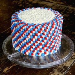 Simple, easy and delicious Fourth of July cake. Sure to impress the family and guests. Happy Fourth of July! {cake mix - no recipe}