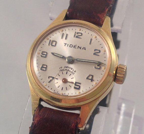 Tidéna  1950's Women's Mechanical Watch 17 by StonebrookVintage