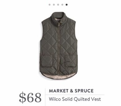 Stitch Fix Fall 2016 - Market & Spruce, Wilco Solid Quilted Vest Fabulous fall colors!