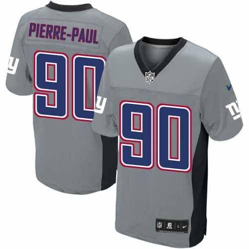 NFL Men's Elite Nike New York Giants #90 Jason Pierre-Paul Grey Shadow Jersey $129.99