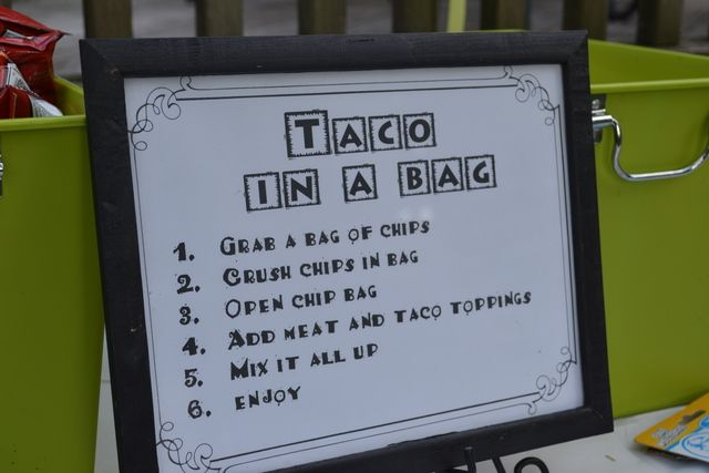 This is a great taco in a bag idea! I've never seen this before #tacoinabag #tacos #partyfood