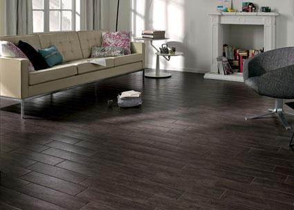 A hardy surface that looks like wood!  Porcelain faux bois tile planks.
