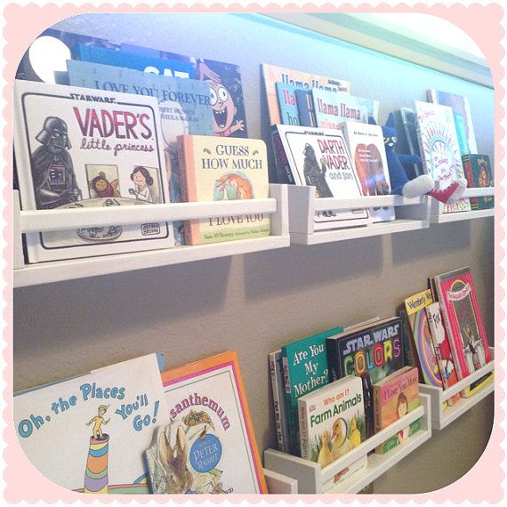 Children's Picture Book Wall Mount Shelves - Now with more color options!