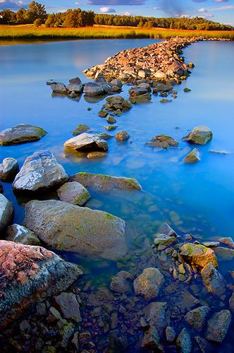 Finland Glorious landscape. Can almost feel the coolness of the clear water. Such a Pristine sceen. Love it!
