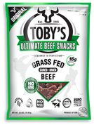 """Toby's Grass Fed Beef Snacks thinly sliced to use in any meal or """"snack on the go"""" the Ultimate Paleo snack  (meaning that it is sugar and wheat-free, with no chemical nasties either)"""