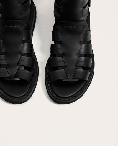 Sandalia Zapatos Romana Negra Hombre Todo Ver RebajasZara erdxCoBW