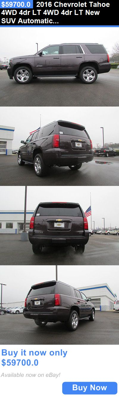 SUVs: 2016 Chevrolet Tahoe 4Wd 4Dr Lt 4Wd 4Dr Lt New Suv Automatic 5.3L 8 Cyl Sable Metallic BUY IT NOW ONLY: $59700.0