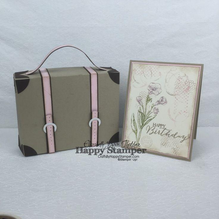 Stampin Up, Vintage, Timeless Textures, Butterfly Basics, Traveler, 3D, suitcase, matchbox